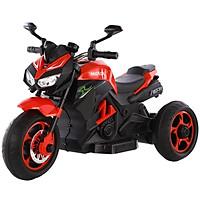 Xe máy điện moto 3 bánh trẻ em XBLD 918 đồ chơi vận động cho bé (Đỏ-Trắng-Xanh)
