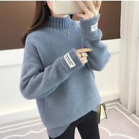 Áo len nữ cao cổ dáng lửng ArcticHunter, chất len lông dày dặn ấm áp, thời trang thương hiệu chính hãng