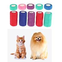 10Pcs Dog Cat Puppy Non Woven Vet Wound Cohesive Bandage Wrap Tape S/L