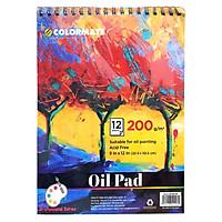Tập Giấy Vẽ Màu Dầu Colormate ARTIST-OP (12 Tờ)