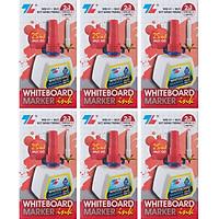 Hộp 6 Mực Bút Lông Bảng Thiên Long WBI-01 - Đỏ