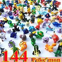 Bộ sưu tập mô hình đồ chơi Pokemon 144 chi tiết (bộ đủ không trùng nhau), màu sơn đẹp, ít lem màu, làm vật trang trí bàn học, bàn làm việc, làm quà tặng, làm đồ chơi nhập vai, kích thích trí tưởng tượng cho các bé