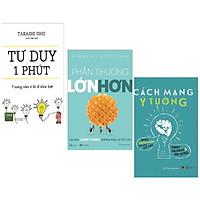 Combo 3 Cuốn Sách Kinh Tế Hay : Tư Duy 1 Phút + Phần Thưởng Lớn Hơn + Cách Mạng Ý Tưởng ( Tặng Kèm Bookmark Thiết Kế )