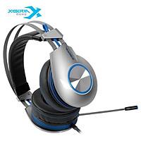 Siberian (XIBERIA) K5 Gaming Headset Headset 7.1 Channel Glow Wire Control Computer Heads Jedi Survival Chicken Earphone Headset Black Blue