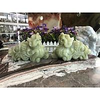Cặp Tỳ Hưu phong thủy đá ngọc Onyx - Dài 25 cm