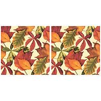 Combo 2 Khăn Giấy Ăn Trang Trí Bàn Tiệc Tissue Napkins Design Ti-Flair 342052 (33 x 33 cm)