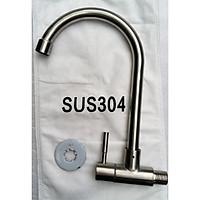 Vòi rửa bát đơn lạnh cắm tường inox 304 BVN607