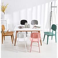 Bộ bàn ăn chữ nhật 1m2 và 6 ghế Bunny nhựa cao cấp hcm