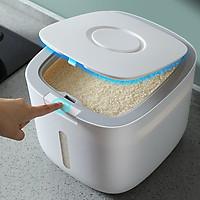 Thùng Đựng Gạo Thông Minh - Thùng Đựng Gạo Cao Cấp Thiết Kế Dạng Nhấn Nút, Chất Liệu ABS