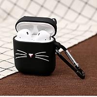 Airpods case, Ốp silicone bảo vệ dành cho Airpods 1/2 - Mèo đen - Hàng chính hãng