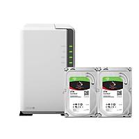 Combo: Thiết bị lưu trữ qua mạng DS220j  & 2 x Seagate HDD ST2000VN004 (Hàng chính hãng)