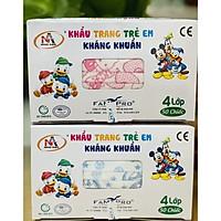 Combo 2 Hộp Khẩu trang trẻ em kháng khuẩn Famapro (Hộp 50 cái -Xanh Đôrêmon và Hồng Kitty