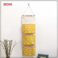 Túi treo tường đa năng 3 tầng, túi treo đồ đa năng, túi trang trí nhà cửa xinh MOHI MT25 -Chính hãng