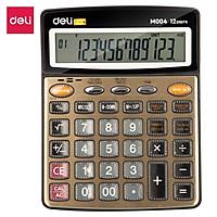 Máy tính nói 12 số Deli - phím phủ Acrylic - Vàng đồng - 1 chiếc - EM00450
