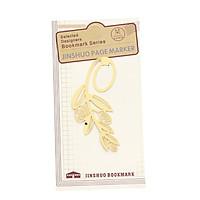 Bookmark kim loại mạ vàng đồng cổ điển - Bông lúa mì