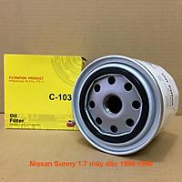 Lọc nhớt C103J-7 dùng cho Nissan Sunny 1.7 máy dầu 1986, 1987, 1988, 1989, 1990 15208W1101