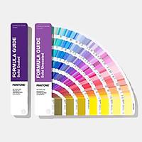 1 Bộ gồm 2 thanh quạt màu Pantone Formula Guide Coated và Uncoated GP1601A nhãn hiệu PANTONE LLC phiên bản mới nhất năm 2020 với 2,161 màu pha PMS đầu 1-7 sử dụng trong ngành đồ họa in ấn nhập khẩu từ Mỹ