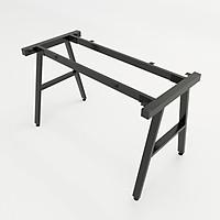Bộ chân sắt chữ A có thanh ngang, sơn tĩnh điện màu đen 1200x580x730mm lắp ráp
