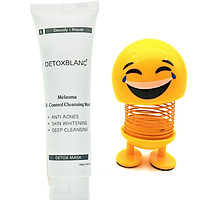 Mặt Nạ Thải Độc Trắng Da Than Hoạt Tính Detox Mask(150ml) thương hiệu Detox Blanc - Làm Sạch Sâu, Thải Độc Da, Ngăn Ngừa Mụn Nám + Tặng kèm Thú Nhún Mặt Cười Siêu Yêu