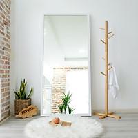 Gương Đứng Soi Toàn Thân Trang Điểm Khung Gỗ Size Khổng Lồ Brixton Mirror Nội Thất Kiểu Hàn BEYOURs - Trắng