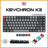 Bàn phím cơ Keychron K3v2 LED đơn Switch Quang học Bản nhôm (Optical Switch) - Hàng Chính Hãng