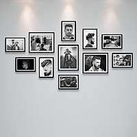 Bộ Ảnh Treo Tường Trang Trí Tiệm Cắt Tóc Nam Cực Đẹp Tặng Kèm bộ ảnh như hình mẫu, đinh treo tranh và sơ đồ treo - PGC238