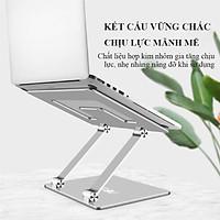Đế Tản Nhiệt Laptop Macbook Giá Đỡ Kệ Đỡ Để Bàn Hợp Kim Nhôm Cao Cấp - Nâng Hạ Độ Cao - Gấp Gọn Tùy Thích Cho Kích Cỡ 10-18 Inches Hàng Chính Hãng