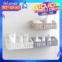 Kệ nhựa dán tường đựng đồ nhà tắm, đồ bếp, vật dụng kích thước 26.5x12x6cm - Chính hãng