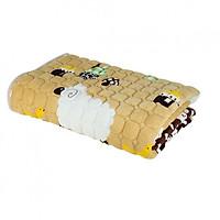 Thảm cừu đa năng trải giường họa tiết Cừu Vàng