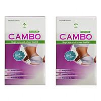 Combo 2 giảm cân giảm mỡ đẹp da Cambo - Học viện Quân y sản xuất - 30 viên/ 1 hộp