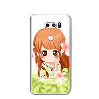 Ốp lưng dẻo cho điện thoại LG V30 - 0383 BABYGIRL03 - Hàng Chính Hãng
