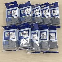 [ Bộ 10 cuộn] Nhãn TZ2-FX231 siêu dẻo - Chữ đen trên nền trắng 12mm - Hàng nhập khẩu
