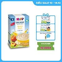 Bột ăn dặm dinh dưỡng Sữa, Chuối, Đào HiPP Organic 250g