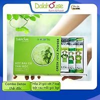 Combo Detox thải độc - Bột rau củ hữu cơ sấy lạnh Dalahouse - Hộp 21 gói 7 loại rau củ, mỗi gói 3gr [Mẫu mới] - Hỗ trợ giảm cân, Thải độc, thanh lọc cơ thể