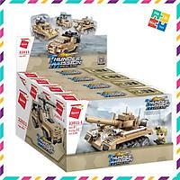 Bộ Đồ Chơi Xếp Hình Thông Minh Lego Qman 22011 Tổ Hợp Xe Quân Sự Nguyên Lốc 4 Hộp Cho Trẻ Từ 6 Tuổi