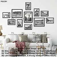 Khung Ảnh Treo Tường Hình Ảnh Đà Lạt Xưa Phong Cách Trắng Đen Nghệ Thuật Tặng Kèm bộ ảnh như hình mẫu, đinh treo tranh và sơ đồ treo - PGC291