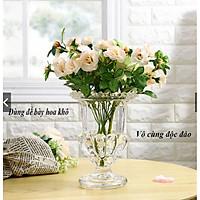 Ly thủy tinh bày phật thủ, trang trí cắm hoa sang trong tinh tế cỡ đại