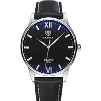 Đồng hồ nam Siêu Mỏng YAZOLE YA318 Doanh Nhân 2020 Sang trọng Dây Da PU cao Cấp
