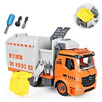 Đồ chơi lắp ráp xe tải chở rác KAVY kèm 1 thùng rác có nhạc và đèn, kích thước lớn giúp bé phát triển các kĩ năng cơ bản