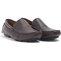 Giày lười da bò cao cấp, giày lười nam, giày mọi da bò nam đế cao su C6ML1T0 Banuli