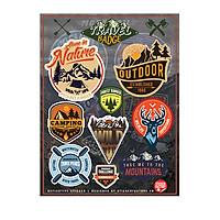 Travel Badge - Reflective Sticker hình dán phản quang 3M Premium
