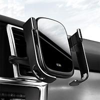 Giá đỡ điện thoại kẹp cửa gió kiêm sạc không dây Baseus Rock-solid Vehicle (WXHW01-0S) - Hàng chính hãng