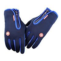 Gloves Touchscreen Cycling Gloves Women Men Windproof Warm Winter Gloves Outdoor Running Hiking Driving, Blue
