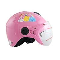Mũ bảo hiểm trẻ em 1/2 đầu có kính hình công chúa cho bé gái chính hãng Bktec