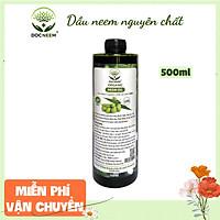 Dầu neem oil nguyên chất DOCNEEM hữu cơ phòng trị sâu bệnh hoa hồng, phong lan, cây cảnh, ép lạnh 500ml