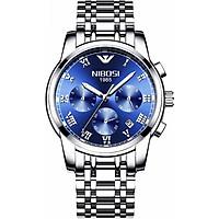 Đồng hồ nam NIBOSI 2301 dây thép lịch ngày thời thượng - Đẳng cấp doanh nhân