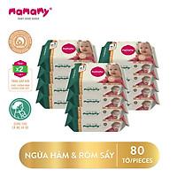 Combo 12 gói khăn ướt Mamamy 80 tờ/gói (không có nắp) an toàn cho bé