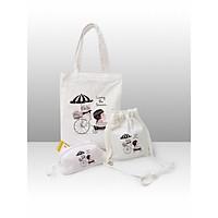 Túi tote Covi set 3 sản phẩm thời trang ( túi tote, túi đeo chéo nhỏ, ví cầm tay)