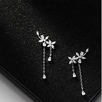 Bông tai bạc nữ- Bông tai bạc kẹp vành thời trang phong cách Hàn Quốc