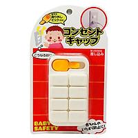 Bộ 8 bịt ổ điện bằng nhựa cao cấp kèm dụng cụ lấy miếng bịt  - Hàng nội địa Nhật